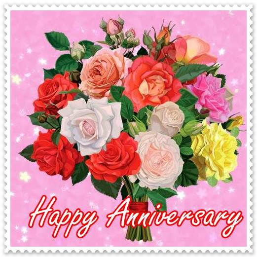 happy wedding anniversary for husband, wife