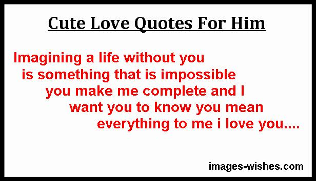 sweet love quotes and sayings for him