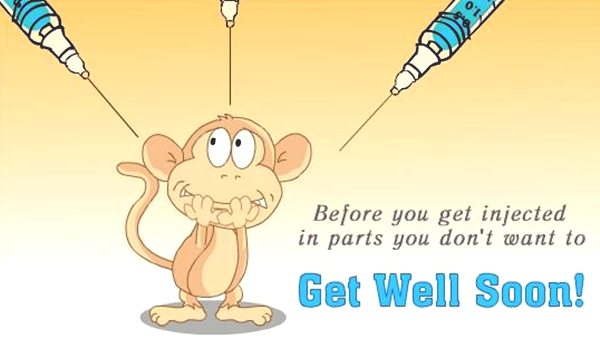 Get Well Soon Funny Picture With Messages